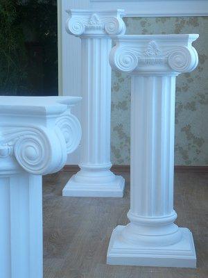 колонны из гипса